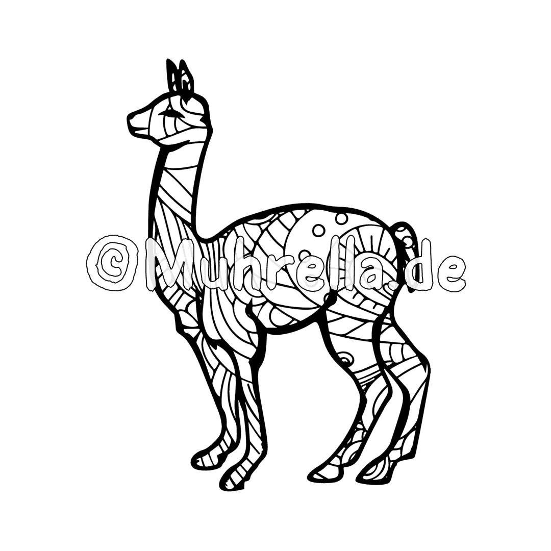 Cartoon Alpaca Coloring Page in 2020 (With images) | Alpaca ... | 1080x1080